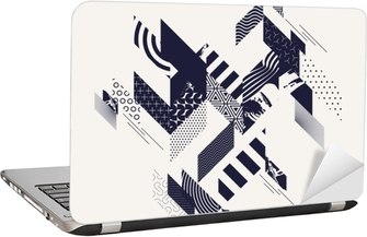 Laptop-Aufkleber Abstrakter moderner geometrischer Hintergrund