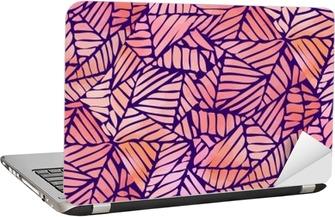 Laptop-Aufkleber Aquarell abstrakte nahtlose Muster. Vektor-Illustration