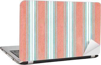 Laptop-Aufkleber Aquarell blau und rosa gestreiften Hintergrund.