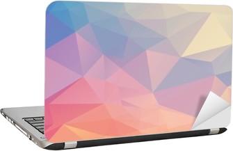 Laptop-Aufkleber Bunte Polygon