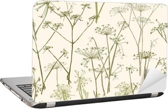 Laptop-Aufkleber Muster der Regenschirm Blumen
