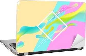 Laptop-Aufkleber Zusammenfassung helle geometrische Komposition