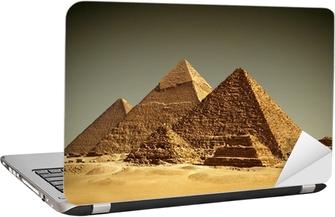 Pyramider - Gizeh / Egypten Laptop Klistermærke