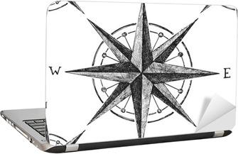 Sømløs mønster med vind rose Laptop Klistermærke