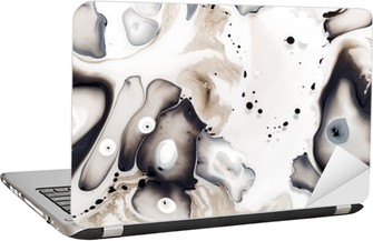 Abstract artwork on the water. Laptop Sticker
