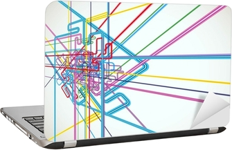 Abstract Background Vector -Transportation Laptop Sticker