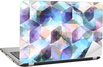 Abstract diagonal background Laptop Sticker