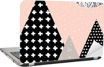 Abstract Geometric Landscape Laptop Sticker