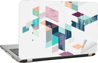 Abstract modern geometric background Laptop Sticker