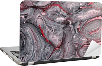 Abstract paint background Laptop Sticker