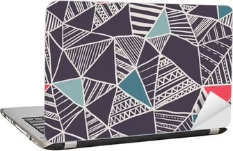 Abstract seamless doodle pattern Laptop Sticker