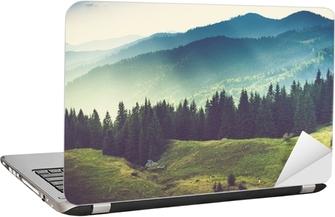 Beautiful summer mountain landscape. Laptop Sticker