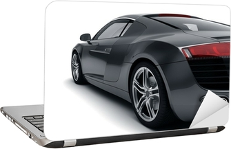 Black Sports Car Laptop Sticker