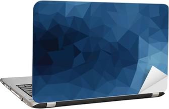 Blue geometric pattern, triangles background Laptop Sticker
