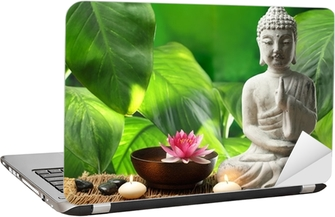 Buddha in meditation Laptop Sticker