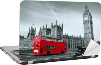 Bus in London Laptop Sticker