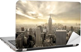 Cloudy sky over Manhattan Laptop Sticker