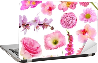 Collage of beautiful pink flowers sticker pixers we live to change mightylinksfo