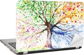 Four seasons tree Laptop Sticker