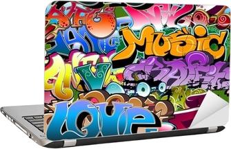 Graffiti seamless background. Hip-hop art Laptop Sticker