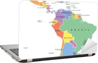 South America - colorful political vector map Wall Mural • Pixers ...
