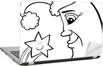 Canvas Santa Op Parachute Cartoon Kleurplaat Pixers We Leven Om