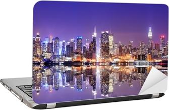 Manhattan Skyline with Reflections Laptop Sticker
