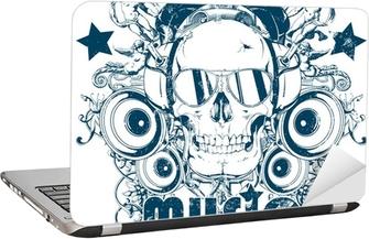 Music addict Laptop Sticker