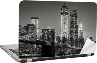 New York City by night Laptop Sticker