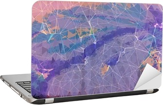 Pink and purple grunge abstract background illustration Laptop Sticker