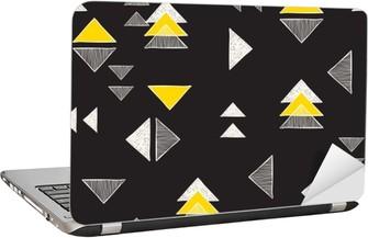 Seamless hand-drawn triangles pattern. Laptop Sticker
