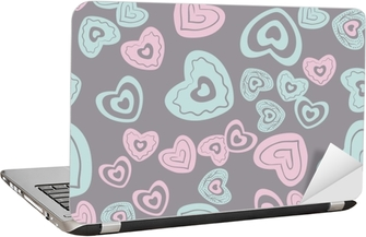 seamless heart pattern Laptop Sticker
