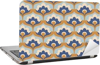 seamless vintage floral pattern Laptop Sticker