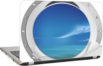 ship window Laptop Sticker