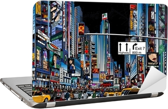 street in New York city Laptop Sticker