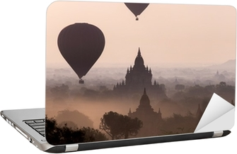 Sunrise over the temple plains of Bagan - Myanmar Laptop Sticker
