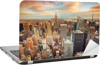 Sunset view of New York City overlooking midtown Manhattan Laptop Sticker
