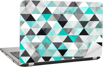turquoise shiny vector background Laptop Sticker