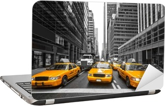 TYellow taxis in New York City, USA. Laptop Sticker