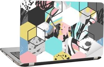 Vector geometric pattern background Laptop Sticker
