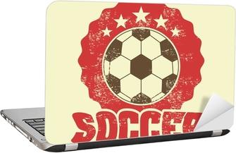 Laptop Sticker Voetbal ontwerp