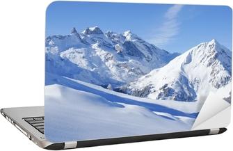 Winterlandschaft in den Alpen Laptop Sticker