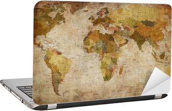 World Map Laptop Sticker