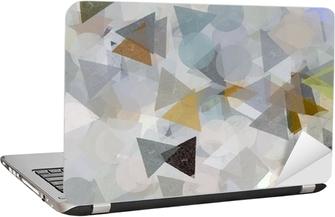 Laptopdekor Geometriska former illustration. Pensel målarfärg.