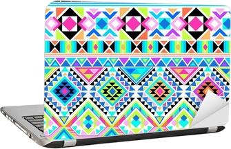 Laptopdekor Neon aztec trycket ~ sömlös bakgrund
