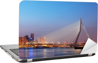 Erasmusbroen i Rotterdam ved Twilight