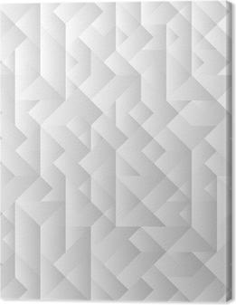 Leinwandbild 3d grauen geometrischen Hintergrund