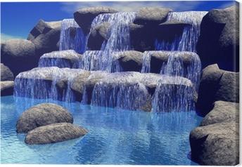 Leinwandbild 3d Wasserfall