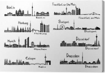 Leinwandbild 8 Städte in Deutschland