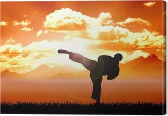Leinwandbild Abbildungbeschreibung von Karate Training